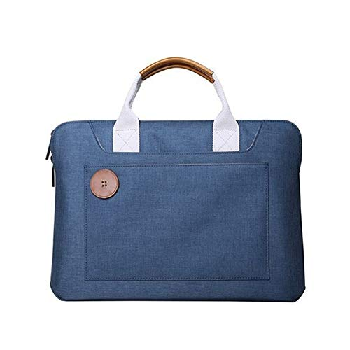 LYDZ-Taschen Die Kurze Art und Weise 14 Zoll Männer Messenger Bag Multifunktions-Laptop Multifunktionales beiläufige Art und Weise (Color : Blue, Size : 13