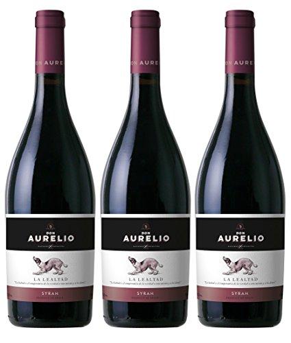Sander'S Selection Vino Navarro Lopez Don Aurelio Syrah, 3 Bottiglie da 750 ml