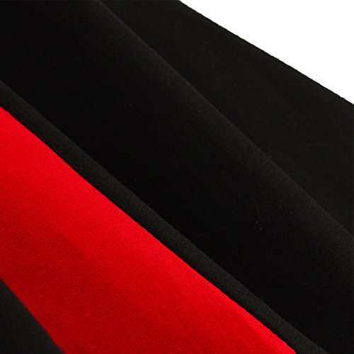 WintCo Tutu Femmes Automnale Style Rétro des Années 50'S Style Audrey Hepburn A-Line Skirt Quotidienne Plssée Robe Elégante 3 Couleurs Noir&Rouge
