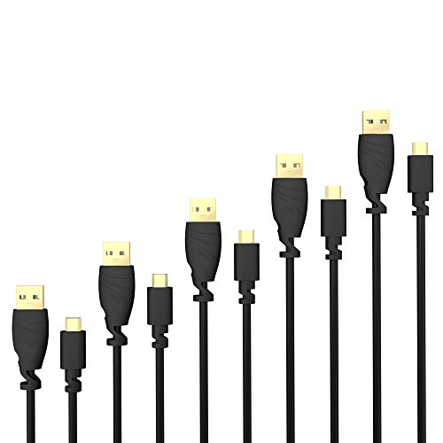 Top-5-kabel (5 x KabelDirekt 1,5m schwarzes Micro USB 2.0 Kabel - TOP Series)