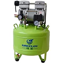 greeloy Dental 800 W Compresor De Aire Silencioso Sin Aceite ga-81 con secador de