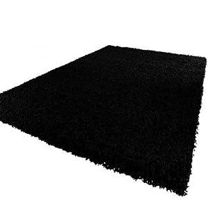 """Shaggy Rug 11 Colours 963 Plain 5cm Thick Soft Pile Modern 100% Berclon Twist Fibre Non-Shed Polyproylene Heat Set (Teal Blue, 120x170 cm (4ft x 5ft8"""")) by AHOC"""