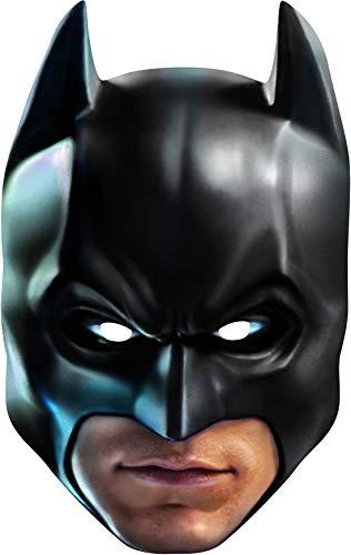 costumebakery - Kostüm Accessoires Zubehör Herren Batman Maske, Card Mask, perfekt für Karneval, Fasching und Fastnacht, Schwarz