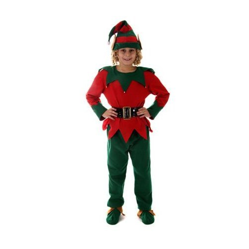 KIND Elf Kostüm AGE 3-5, TOP + Hose -