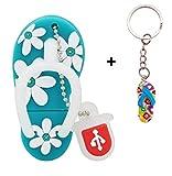 Lynneo Clé USB Tong Sandale Bleu 16Go avec Porte-Clés Sandale Surprise Parmi Ceux...