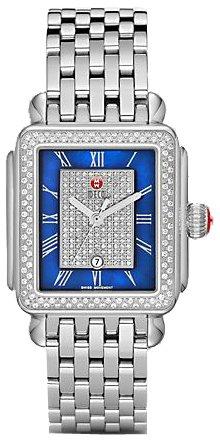 Reloj de mujer de diamante Michele Deco MWW06T000082