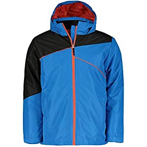 McKINLEY Xander Skijacke Jungen Black/Night Orange Jacke Snowboardjacke