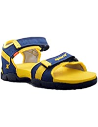 Sparx Boy's Blue And Yellow Sandals (SS-109)