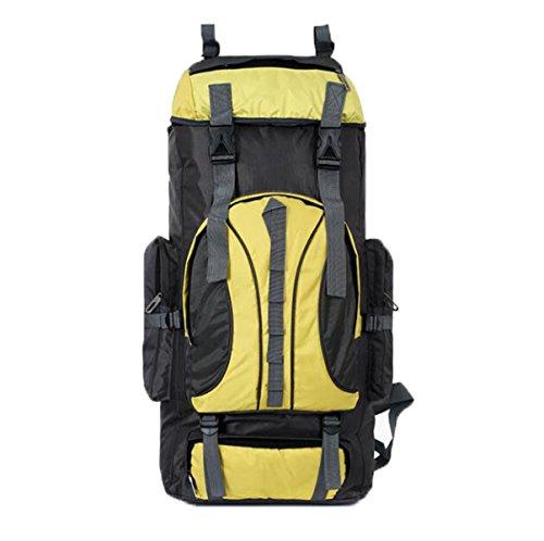 Outdoor Rucksack 60L Bergsteigen Tasche Schulter Reise Ranzen Yellow