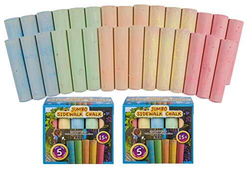 raßenkreide 5 Farben Malkreide Bodenkreide für Draußen Kinderkreide 10 ()