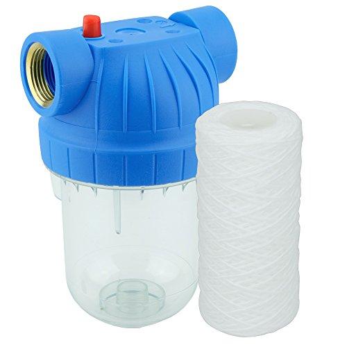 """Wasserfilter 5 Zoll, Anschluß 1\"""" Garten Haus Schmutzfilter Sandfilter Filtereinsatz (Faserfilter)"""