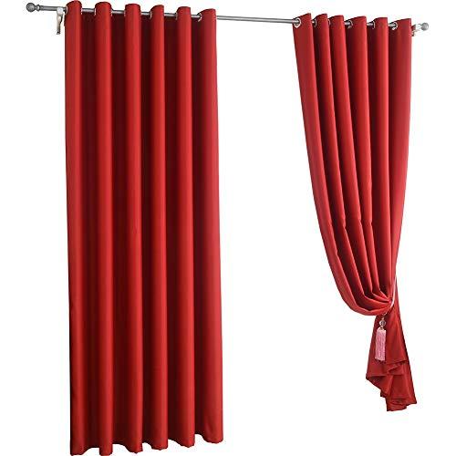 Wufeng-tendaggi occhiello grande rosso ombreggiatura nozze stanza del matrimonio camera da letto, più dimensioni può essere personalizzato (colore : red, dimensioni : 300x270cm(1piece))