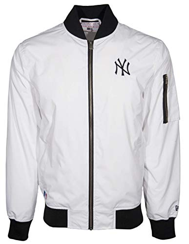 New Era - MLB New York Yankees Concrete Bomber Jacke - Weiß Größe XL, Farbe Weiß -