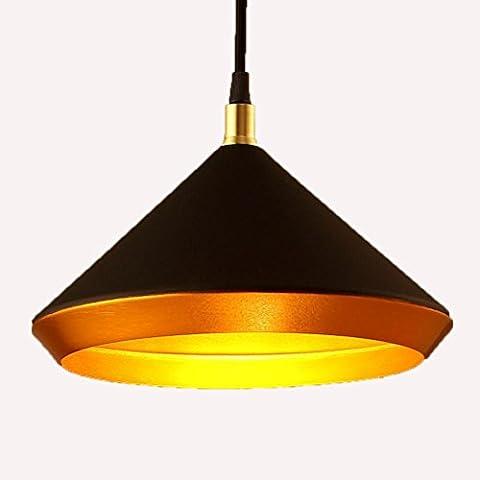 Repas De Fer Industriel Éolienne Lampe Suspendue / Personnalité De La Mode Rétro Chandelier Seule Tête , Black,black