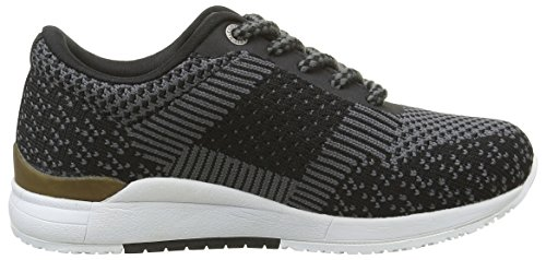 Kickers Knitwear, Baskets Basses Fille Noir (Noir Or)