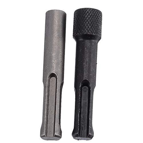 ZHDYTWYT 2Pcs/Set Screwdriver Drill Bit Adaptor 1/4 Inch Hex Shank Converter Socket Nut Impact Driver Set for SDS Hammer Drilling -