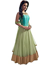 Viha Women's Anarkali Dress Material