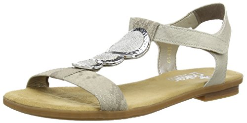 Rieker 64278 Women Open Toe, Damen Sandalen