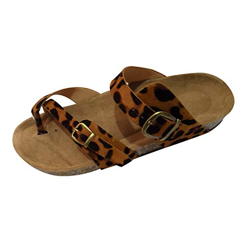 KonJin Flip Flops for Women Retro Cross Toe Strap Flats Sandals Beach Shoes Thick-Soled Cork Slipper Plain Womens Ballet Flats