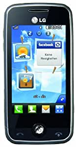"LG GS290 Cookie Fresh Handy (7.6cm (3"") Display, Touchscreen, 2MP, 3.5mm Anschluss) silver"