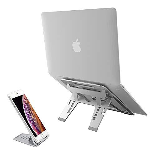 LAOPAO Laptop Ständer, Laptop Stand Höhenverstellbar Aluminium mit Silikon Pad Anti-Rutsch für 10 bis 17 Zoll Notebook, Apple MacBook, iPad,Surface -