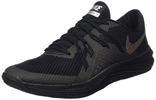 Nike Damen W Lunar Exceed Tr Mtlc Gymnastikschuhe, Schwarz (Black/Black/Metallic Silver), 37.5 EU (Lunar Schuhe)