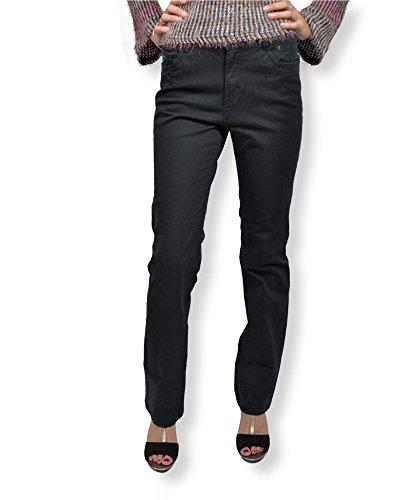 Pantalon femme slim fit B.YOUNG - Pantalon femme coupe 5 poches de couleur noir Noir