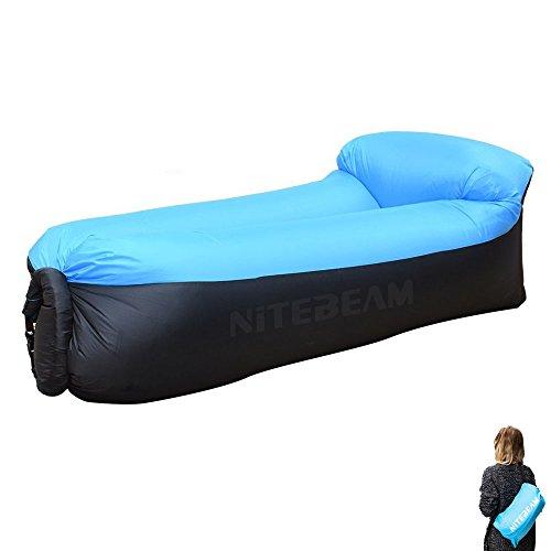 Luftcouch NiteBeam luft sitzsack luftbett mit schlaffunktion für draußen luftsofa 210T 2017 Version Blau