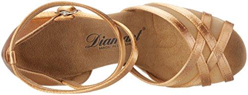 Diamant Damen Tanzschuhe 035-108-087, Scarpe con Tacco Donna Beige (Schwarz)