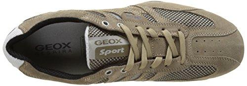Geox Snake K, Sneakers basses homme Beige (Sand/Indigoc5Z4V)
