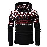 KJHSDNN Pull à Capuche Tricot Homme Pullover Sweater Tops Floral Imprimé pour...