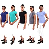 Stable Impex Girl's T'shirt, with Crew Neck in 100% Cotton - Available in Pack of 2 & Pack of 5