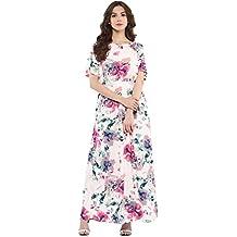 Harpa Large Florals Maxi Dress (GR3765-OFF WHITE)