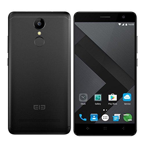 Elephone A8 móviles y smartphones libres, Teléfonos Móviles Libres 5.0 Pulgadas de Pantalla Dual SIM 3G Android 7.0 Quad Core MT6580 1.3GHz - 8GB ROM 5MP Cámara Dual Standby GPS WIFI Fingerprint - Negro