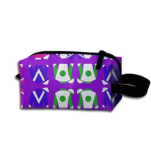 Travel Makeup Purple Jockey Silks Beautiful Waterproof Cosmetic Bag Quick Makeup Bag Pencil Case -