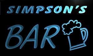 pv1126-b Simpson's Bar Beer Mug Glass Pub Neon Light Sign