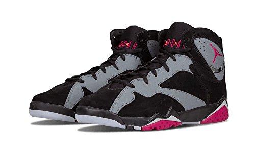 Nike Air Jordan 7 Retro Gg, Scarpe da Corsa Bambina Nero / rosa / grigio (nero / sPRT FCHS-Cl-Wlf Gry Gry)