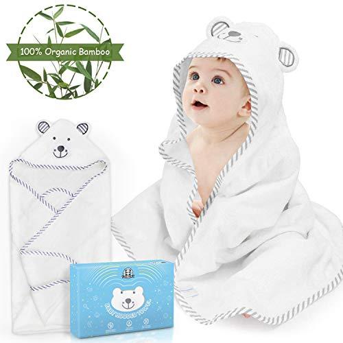 Toalla Bebé con Capucha LOORI, Capa de Baño Infantil, Toalla de Baño para Bebé -...