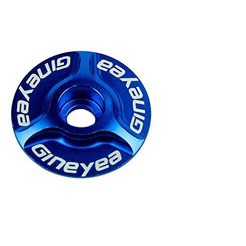 "Universal Aluminium Vorbau Kappe für Fahrrad Rennrad MTB BMX Fixie - Bike Pro Ringform Cap - 28,6 mm - 1 1/8 \"" in blau"