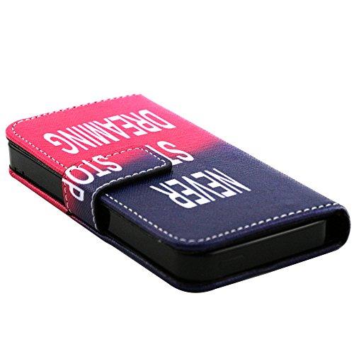 EUDTH iPhone SE Coque Peinture Style Housse Flip Cover Portefeuille Etui en Cuir de Protection Case vec B¨¦quille pour iPhone 5 / 5S / iPhone SE -YH06 YH05