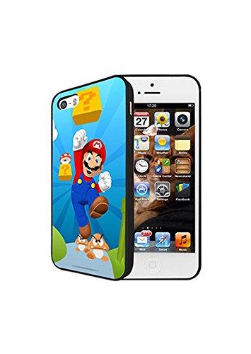 Iphone 5/5s Handyhülle Super Mario Bros Game Logo Iphone 5 Hülle Case Super Mario Bros Hard Back Iphone 5s Phone Case [Super Mario Bros Schutz]