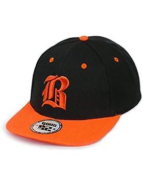 morefaz - Gorra de béisbol infantil unisex multicolor B Black orange Regular