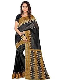 Cotton black color Bhagalpuri saree With Blouse