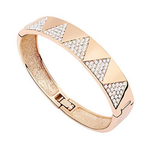 Damenmode-Armband-Armband-Weihnachtsgeschenke Valentines Geschenk Stadt,Silver-L