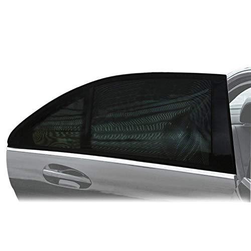 Sonnenschutz Auto Baby (2 Stück), PEMOTech® [flexibel] [dehnbaresNetz] Auto-Hinterseitenfenster Sonnenblenden für Baby, Ihre Baby und ältere Kinder werdenvorSonnengeschützt, geeignetfür Autos