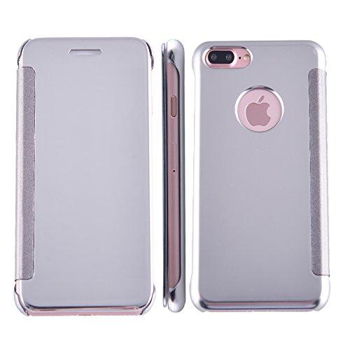 AddGuan iPhone 6/6S Plus Case,Specchio Smart Clear View Finestra Cassa Ultra-Sottile Adatto per iPhone 6/6S Plus Case (Verde Scuro) Argento