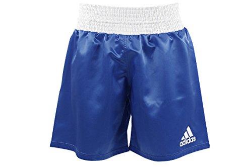 Adidas Satin Boxershorts - blau-weiß Red & White