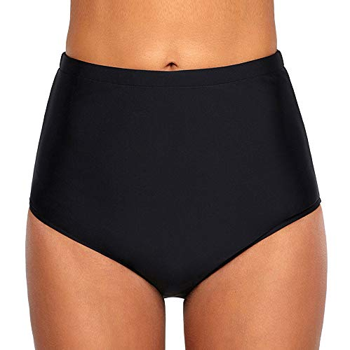 Ecute Damen Bikini Hose High Waist Bikinihose Hoher Taille Schwimmen Slip