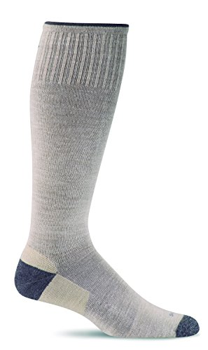 Sockwell Men's Elevation Firm Graduated Compression Sock, Khaki - Medium/Large -