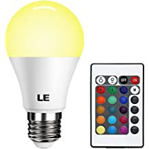 LE RGBW E27 LED Lampen mit Fernbedienung Farbwechsel 6W A60 Dimmbar Birne mit RGB und Warmweißem Licht, RGB + Weiß 2700K, LED Leuchtmittel